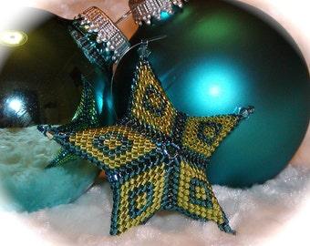 3-D Peyote Star Ornament Tutorial