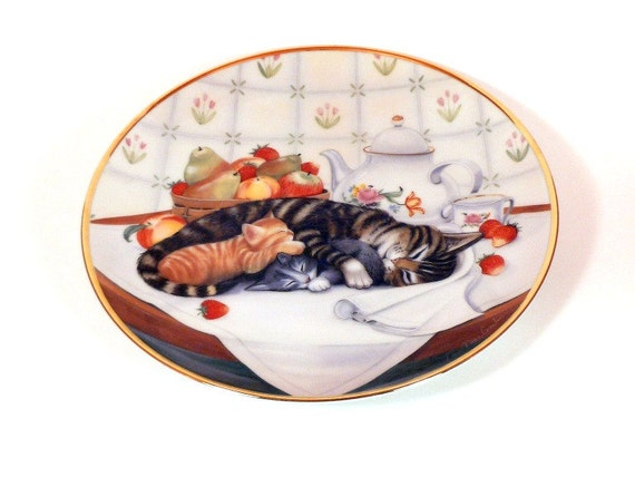 Vintage Franklin Mint Collector Plate Cat Nap