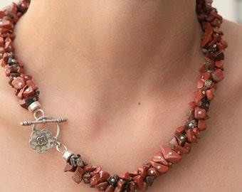 Jasper Flower Necklace