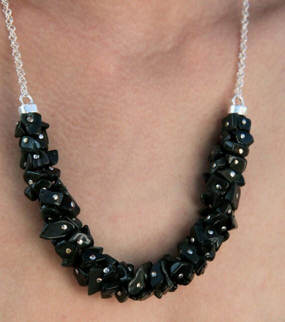 Obsidian Necklace by L...