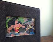 Upcycled Cigar Box with Wonder Woman Comic