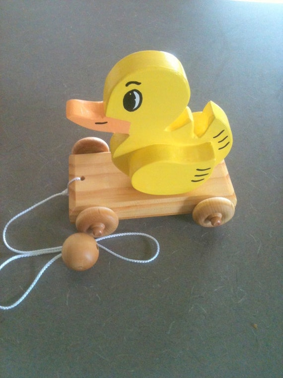 "1940's Style, ""Little Yellow Ducky"", Kids Toy"