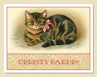 Adorable Kitten Note Cards - Personalized (10 Folded)