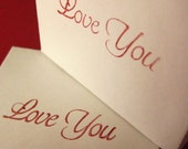 Love You. Paper Gift Box. Red, Black and White