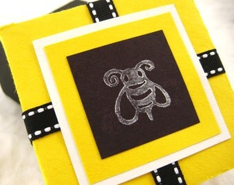 Bumble Bee Gift Box. in Yellow, Black and White. Mr Bumble. Hand-folded Keepsake. for Giving... with Love. by la Naváa