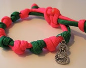 Saint Philomena adjustable prayer bead paracord bracelet - more colors available