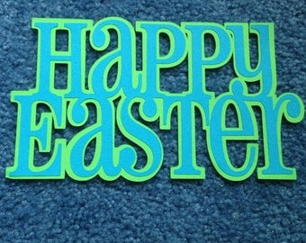 "Scrapbooking title ""Happy Easter"""