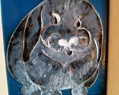 Mithril the Bunny: Custom Portrait in Copper Enamel
