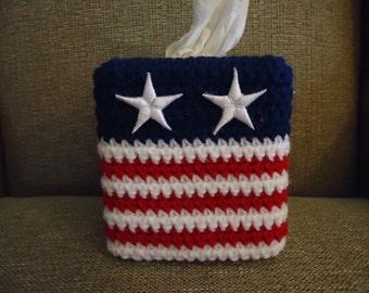 Patriotic Flag Tissue Cover
