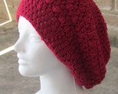 Made to Order Crochet Slouch Hat (long hair) - You Choose Color  by Chibi and Charming