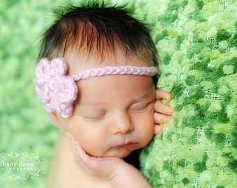 3 for 20 Simple Baby Headband with flower newborn perfect for photo prop girl FREE SHIPPING