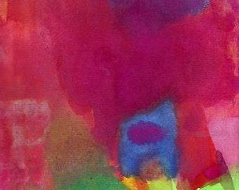 Art Print, Watercolor, Home in My Heart