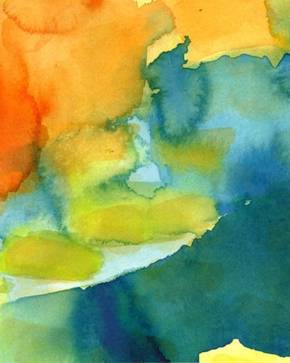 Art Print, Watercolor, Layers