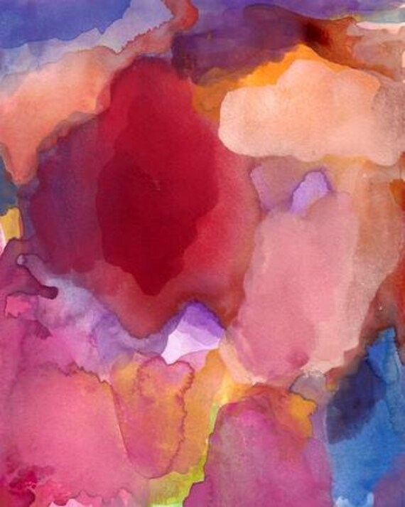 Art Print, Abstract Painting, Flow