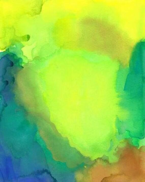 Renewal, Original Watercolor Painting, Abstract art
