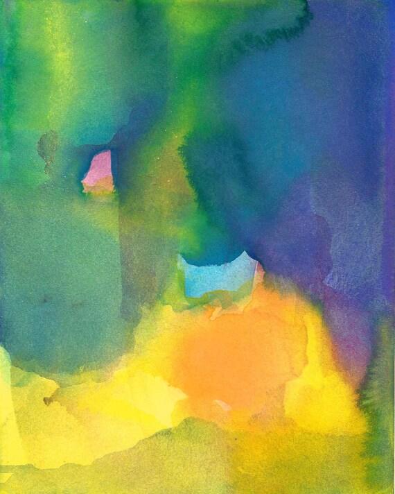 Art Print, Watercolor Painting, Large, Gratitude