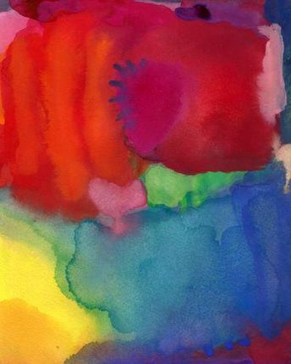 Original Watercolor Painting - abstract art - MEND