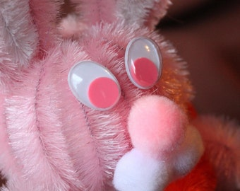 Chenille Bunny - Pink with White Belly