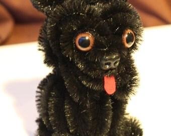 Chenille Pug - Black
