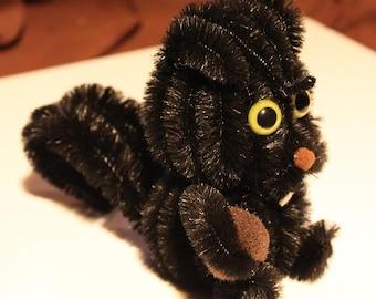Chenille Squirrel - Black