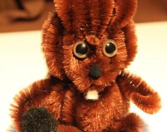 Chenille Squirrel - Brown
