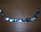 Purple And Blue Shell Anklet