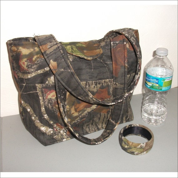 Mossy Oak camo tote style handbag purse camouflage