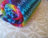 50x60 inches - Maeve's Granny Stripe Blanket, All Grown Up