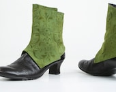 Handmade Spats in Floral Green
