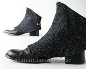 Handmade Spats in Black - Grey