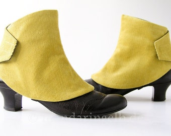 Handmade Spats in Yellow
