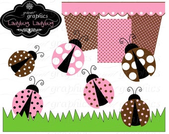 Pink Ladybug Clipart Digital Ladybug Ladybug Clipart Lady Bug Clipart Ladybug Clip Art Instant Download