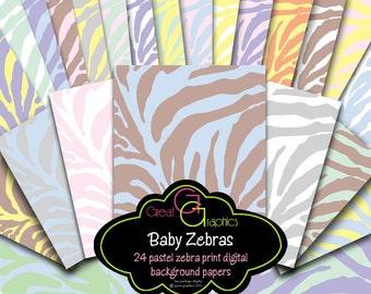 Zebra Print Paper Zebra Paper Digital Paper Pink Zebra Digital Paper Zebra Digital Instant Download