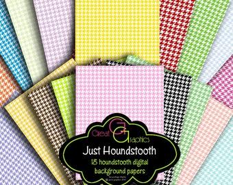 Houndstooth Digital Paper Pink Houndstooth Paper Digital Background Invitation Paper Instant Download