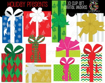 Christmas Clip Art holiday presents clip art printable Christmas clip art digital clip art Christmas present clip art