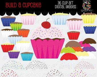 Cupcake Clipart Digital Cupcake Cupcake Clip Art Cupcake Digital Clipart Printable Cupcake Instant Download