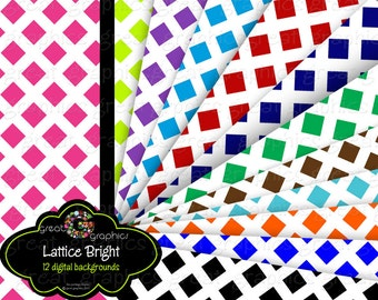 Lattice Digital Paper Invitation Paper Printable Lattice Print Paper Lattice Pattern Digital Download - Instant Download