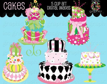 Cake Clipart Cake Clip Art Digital Cake Wedding Cake Clipart Birthday Cake Clip Art Cake Digital Instant Download