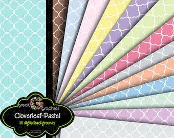 Pastel Pattern Paper Digital Paper Digital Pattern Paper Digital Scrapbook Paper Baby Shower Printable Paper - Instant Download