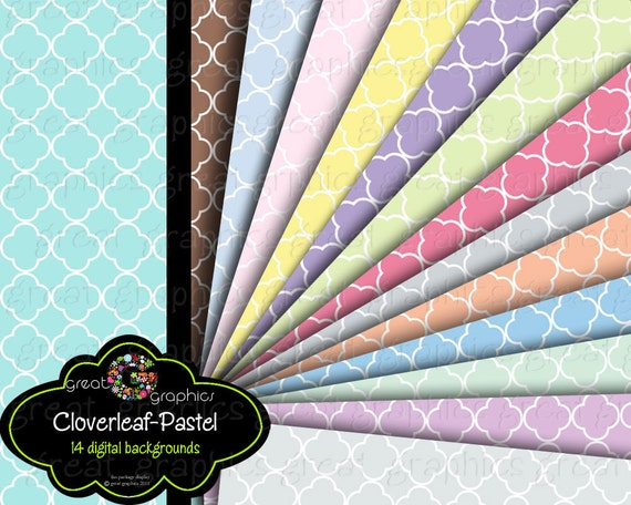 Pastel Pattern Paper Digital Paper Digital Pattern Paper Digital Scrapbook Paper Baby Shower Printable Paper - Instant Download