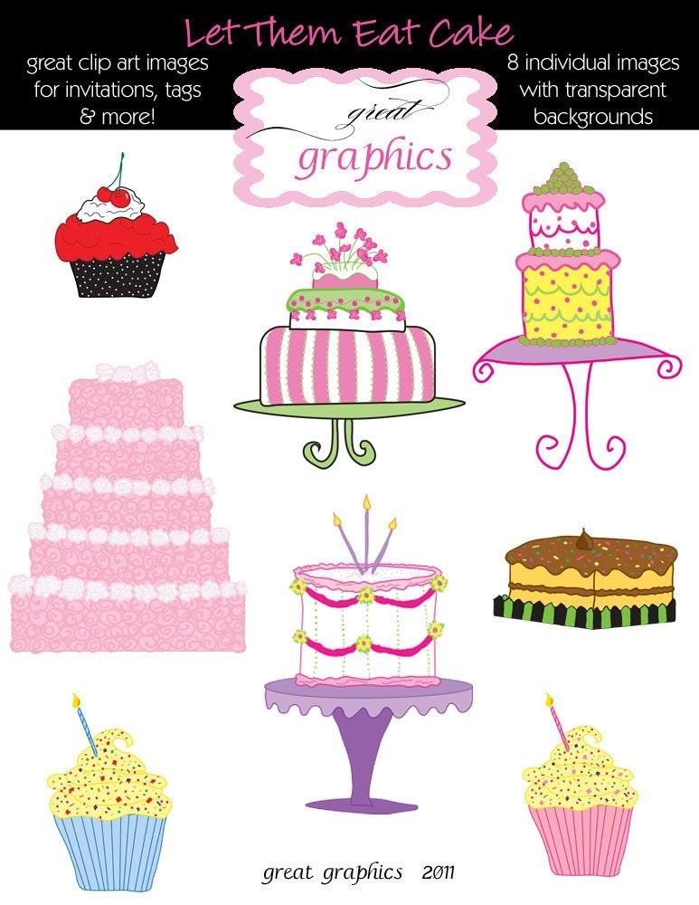 Cake Clipart Birthday Cake Clip Art Digital Cake Cupcake