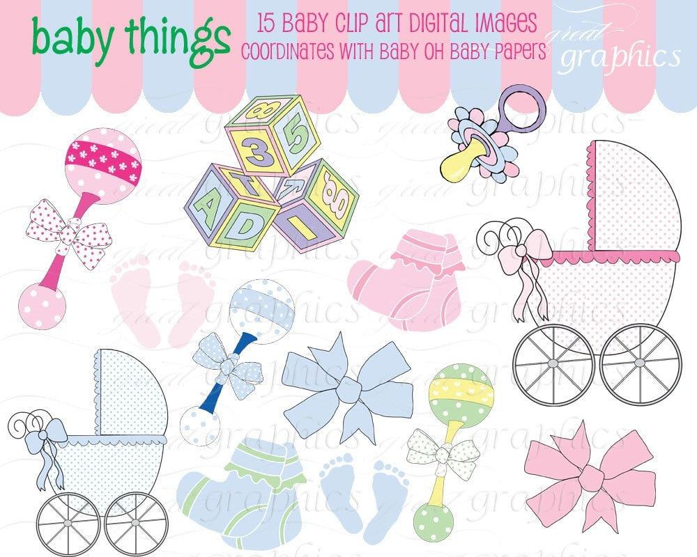 Baby Rattle Pictures Clip Art Baby Digital Clip Art Digital