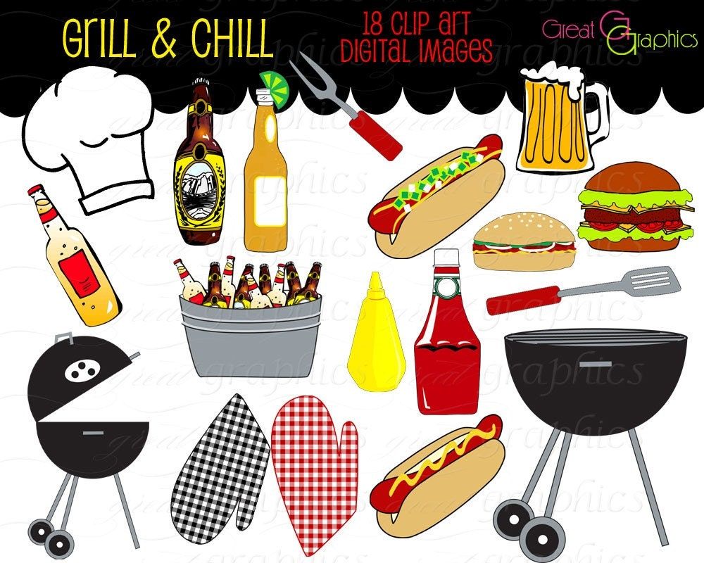 party clipart backyard bbq clip art cooking clipart printable