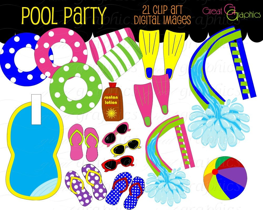 Pool Party Images Clip Art Pool Party Clip Art