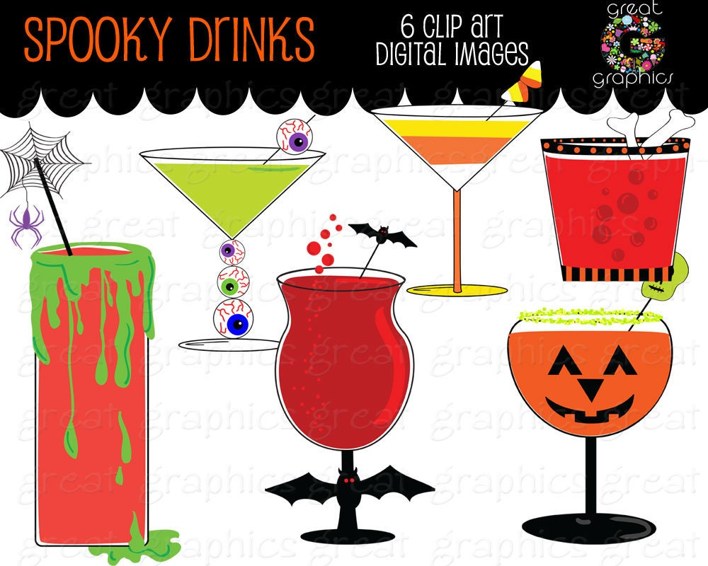 Halloween Clipart Halloween Party Printable Cocktail Drink Clip ...