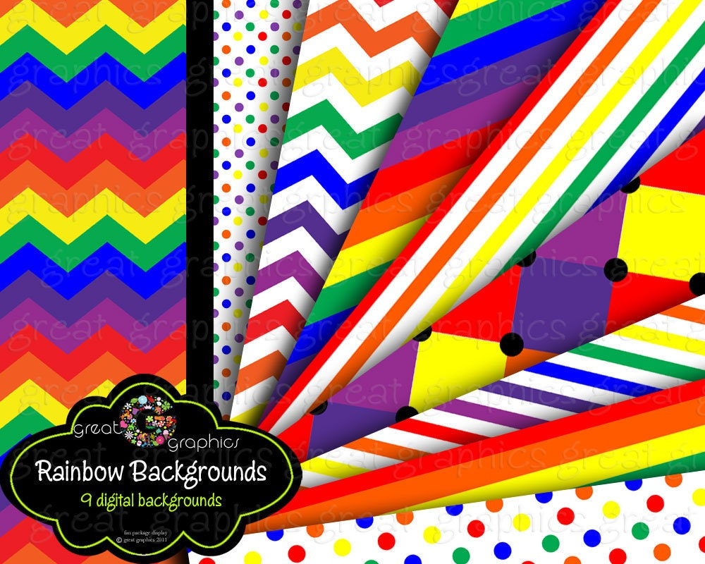 rainbow paper rainbow party digital paper printable rainbow