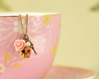 Frida Skull Charm Pendant Necklace