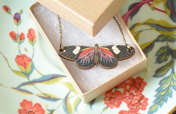 Geraldine Butterfly Pendant Necklace