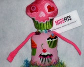 SWEET SKULLY the skeleton cloth art monster doll MISSFits Collection