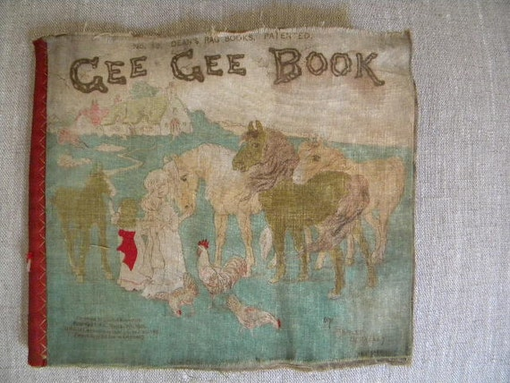 Antique children's Gee Gee Book....London early 1900's...Dean's Rag Books No.56